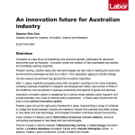 2007 Federal Labor Election Policy on Innovation for Industry