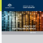 Health of Australian Science Chief Scientist May 2012