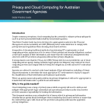 Privacy and Cloud Computing for Australian Govt Agencies AGIMO Jul 2012