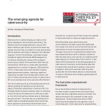 Emerging Agenda for CyberSecurity ASPI July 2013