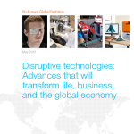 Disruptive Technologies Transforming Life Business Economy McKinsey May 2013
