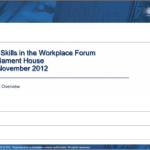 ICT Skills in the Workplace IDC Nov 2012