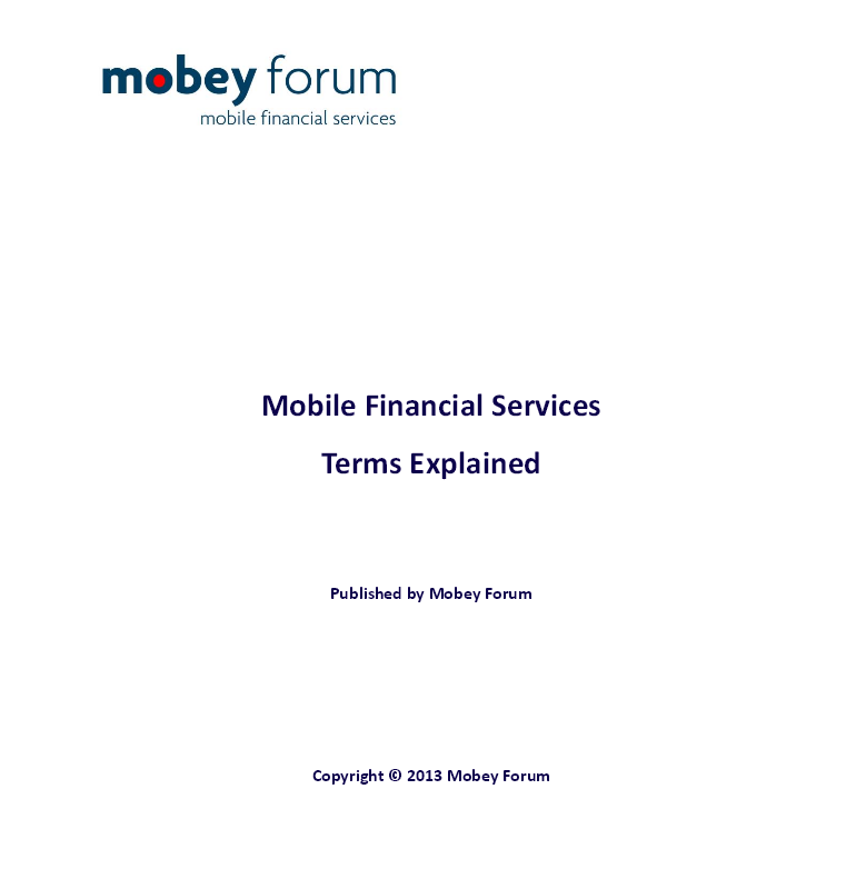 Mobile Financial Services Terms Explained Mobey