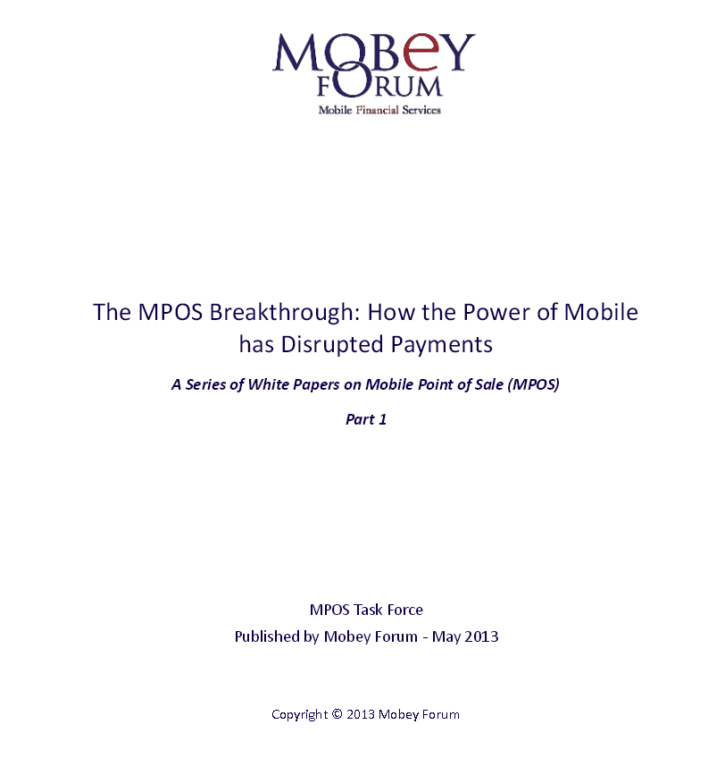 Mobile Point of Sale White - Breakthroughs - Mobey Forum May 2013