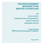 NSW Govt Industry Action Plan Response NSW T&I Dec 2012