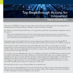Top Breakthrough Actions for Innovation Australian Chief Scientist Dec 2012