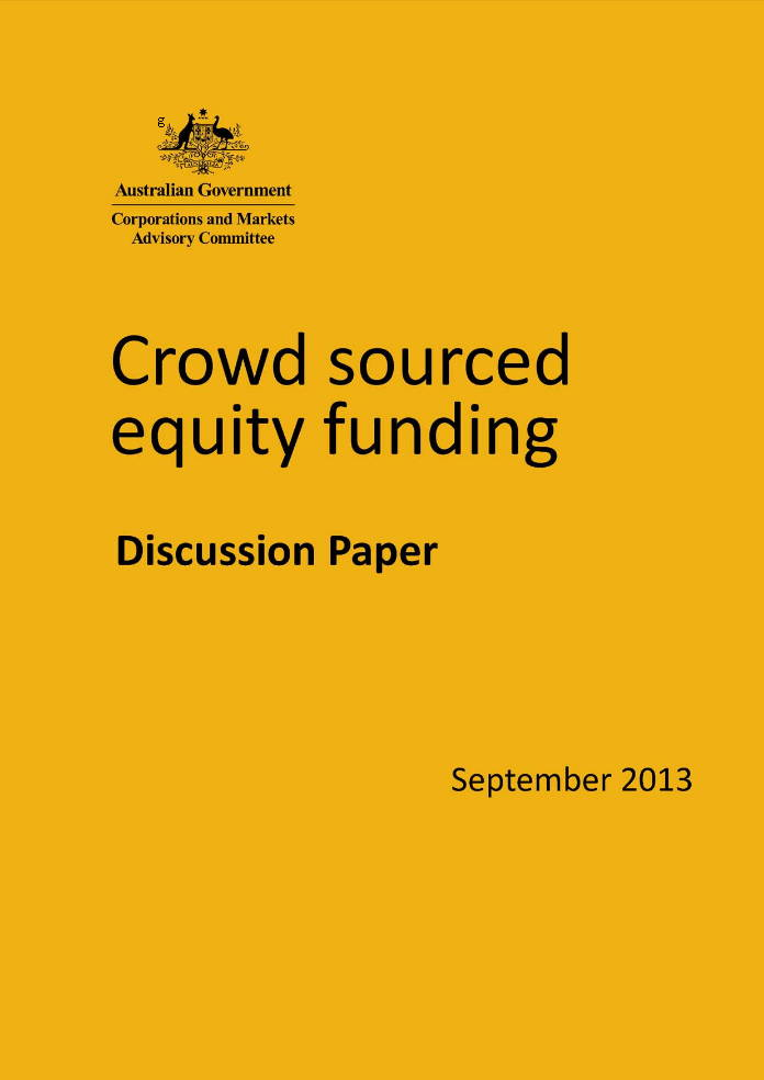 Crowd Sourced Equity Funding Discussion Paper - Australia CAMAC Septmber 2013