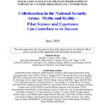 Collaboration in National Security Myths Realities Cabayan June 2009