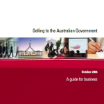 2006 Selling to Govt - A Guide for Business DoFA Oct 2006