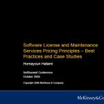 2006 Software Licencing Pricing Models McKinsey Sept 2006