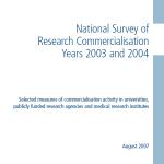 2007 National Survey of Research Commercialisation 2003-2004 DEST