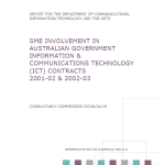 2007 SME Involvement in Australian Government ICT Contracts 2001-2003 Intermedium DCITA