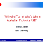 2007 Who's Who in Australian Photonics R&D Mike Austin RMIT