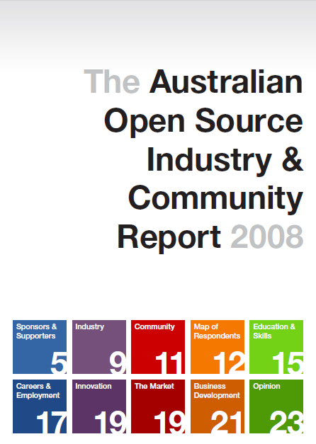 2008 Australian Open Source Industry & Community Report Waug