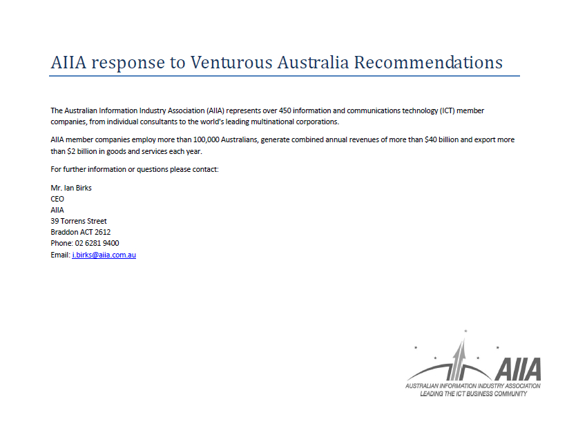 2008 Innovation Review AIIA comment on Culter report Oct 08