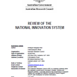2008 Innovation Review ARC Submission Apr 2008