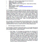 2008 Innovation Review ISA Technologies Submission Apr 2008