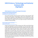 2008 OECD Science Technology Industry Outlook Highlights Oct 2008