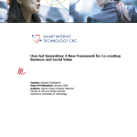 2008 Web 2-0 User-Led Innovation – A New Framework for Co-creating Value Smart Internet CRC